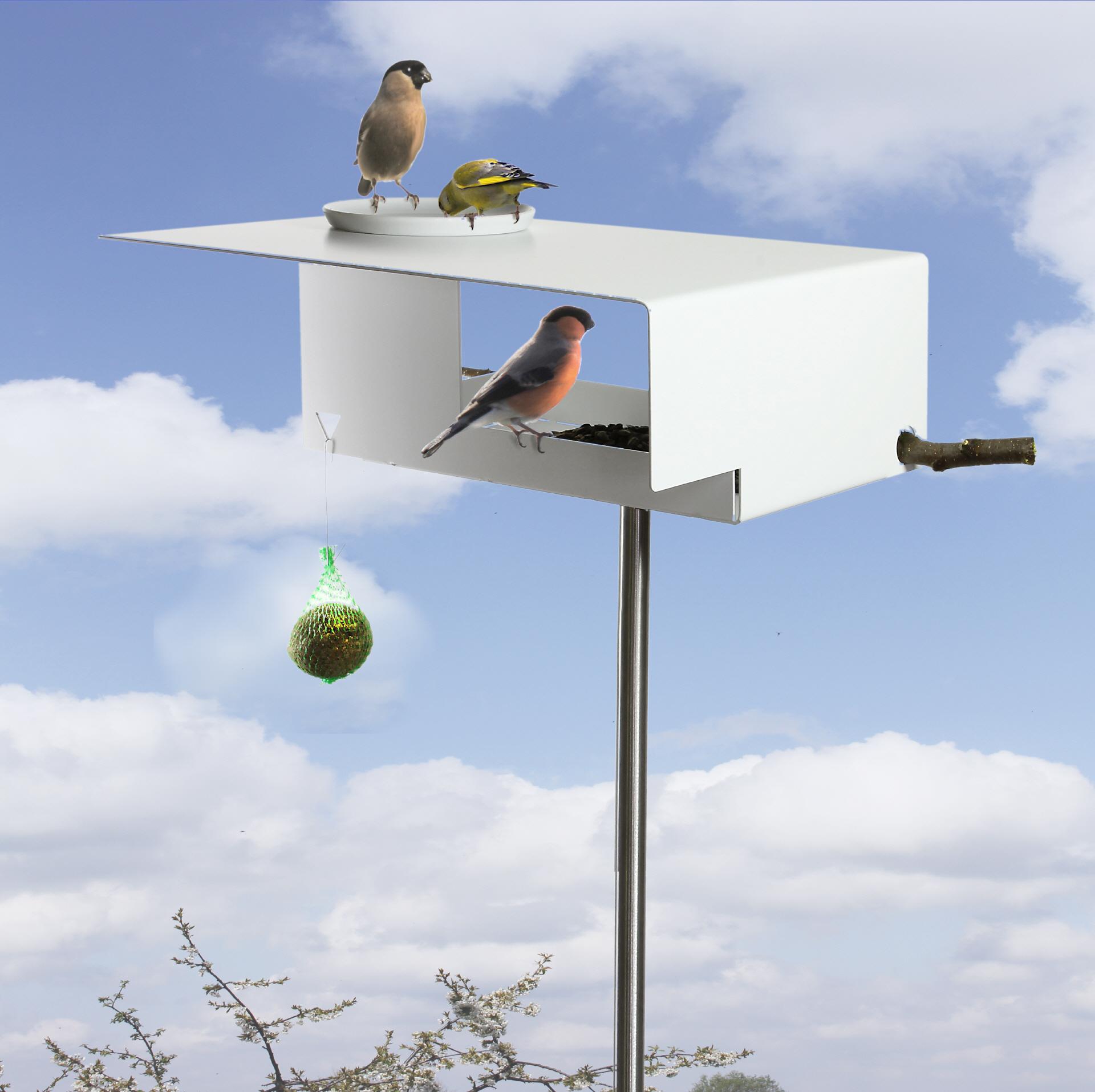 OPOSSUM design 1108 Vogelfutterhaus mit Tränke VHT-1